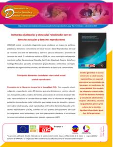 Boletin n° 9: demandas ciudadanas y obstáculos relacionados con los        derechos sexuales y derechos reproductivos