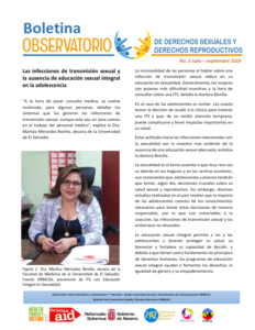 Lee más sobre el artículo Boletin n° 3-2019: las infecciones de transmisión sexual y la ausencia de educación sexual integral en la adolescencia