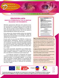 Boletin n°2: educacion laica base de la democracia y de la libertad religiosa y de pensamiento