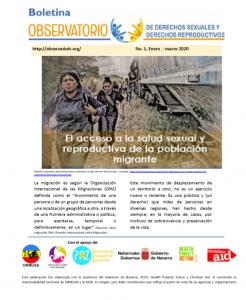 Boletin n° 1-2020. El acceso a la salud SyR de la población migrante