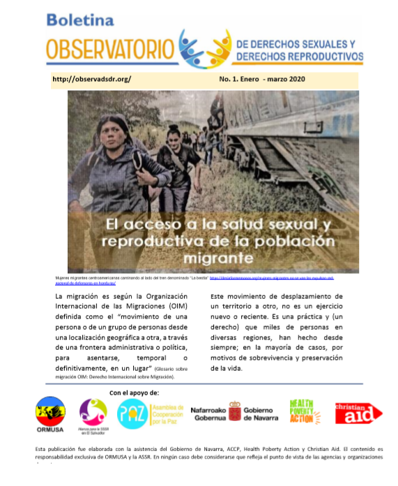 Lee más sobre el artículo Boletin n° 1-2020. El acceso a la salud SyR de la población migrante