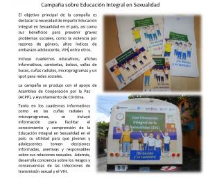 Campaña sobre Educación Integral en Sexualidad