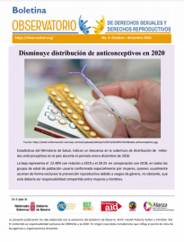 Boletin n° 4-2020 Disminuye distribución de anticonceptivos en 2020