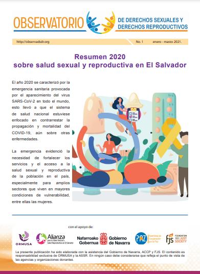 Lee más sobre el artículo Boletin n° 1-2021  Resumen 2020 sobre salud sexual y reproductiva en El Salvador