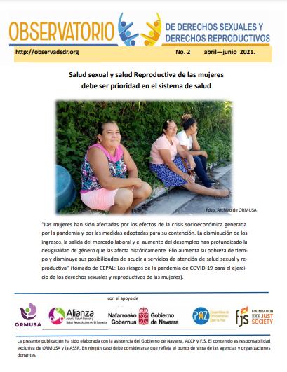 Lee más sobre el artículo Boletin n° 2 – 2021  Salud sexual y salud Reproductiva de las mujeres debe ser prioridad en el sistema de salud